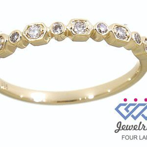 Half Eternity Band Natural Diamond Yellow Gold